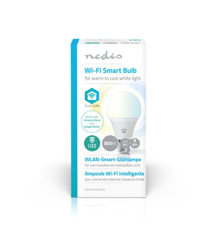 WiFi Smart LED Bulb | Warm to Cool White | B22