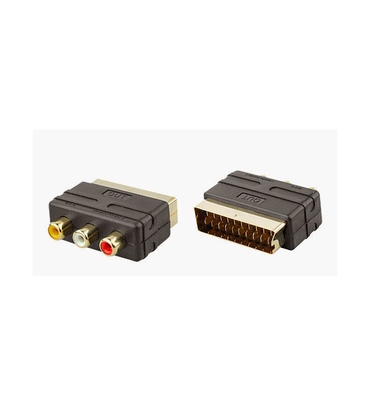 Rca to scart adaptor