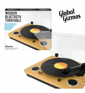 Wooden Bluetooth Turntable