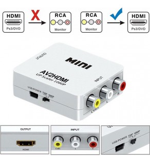 RCA AV to HDMI Mini Converter