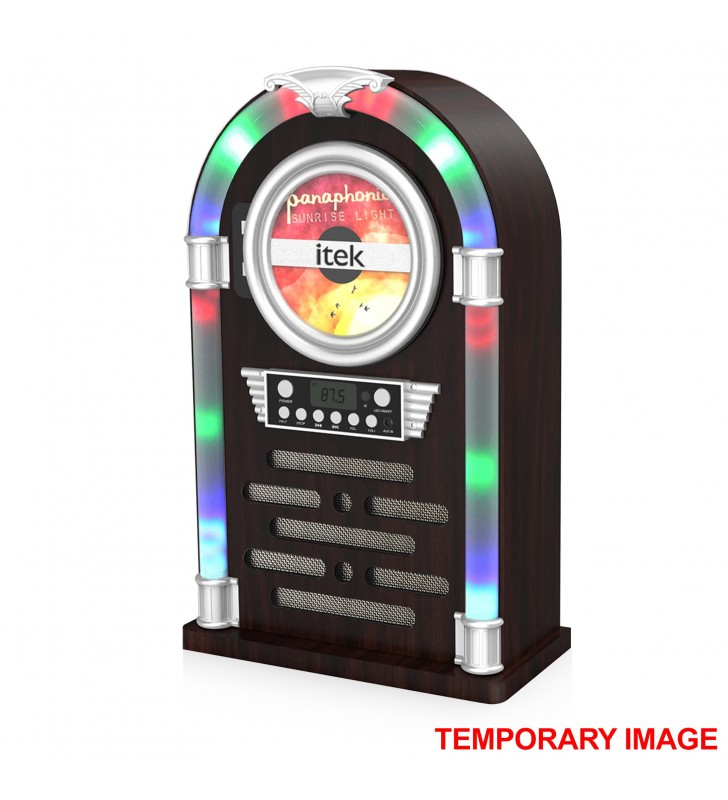 iTek I60018CD Bluetooth Multi Functional LED Jukebox Speakers Radio, CD player