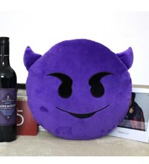 Purple Devil Emoji Cushion