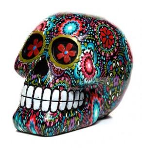 Floral Print Skull